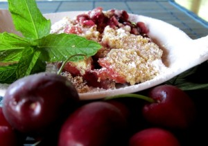 crumble di ciliegie