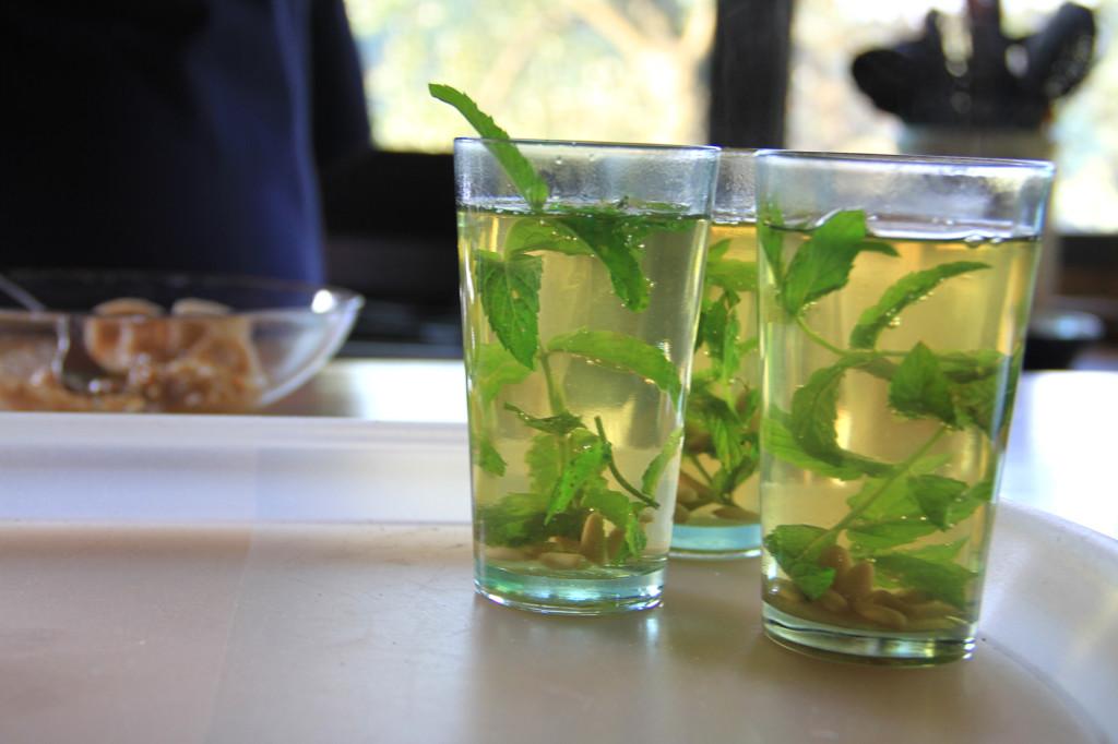 Tè alla menta come nel Sahara.