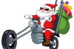 babbo natale su moto