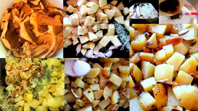 Funghi e patate stufati alla nepitella - Funghi secchi a bagno ...